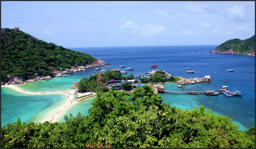 Ko Nang Yuan island, Koh Tao's tiny neighbour.